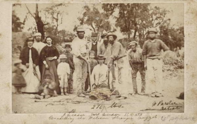One of the William Parker re-enactment photos. William Parker was a photographer who had a studio in Dunolly.