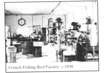 Crouch Fishing Reel Factory inside c1956