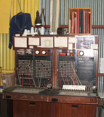 Telephone exchange that was in service until 1982. It used to be loaded on a truck and taken to a different local towns each day on a roster basis, thus Dunolly had the first mobile phone. Having fooled too many young people, this demonstrates the importance of history to be able to tell what is true and what is fiction.
