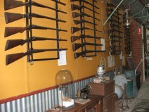 We have one of the best firearms collections that can be viewed by the public. This picture is an example only.